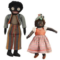 Two Early 20th Century Folk Art Dolls