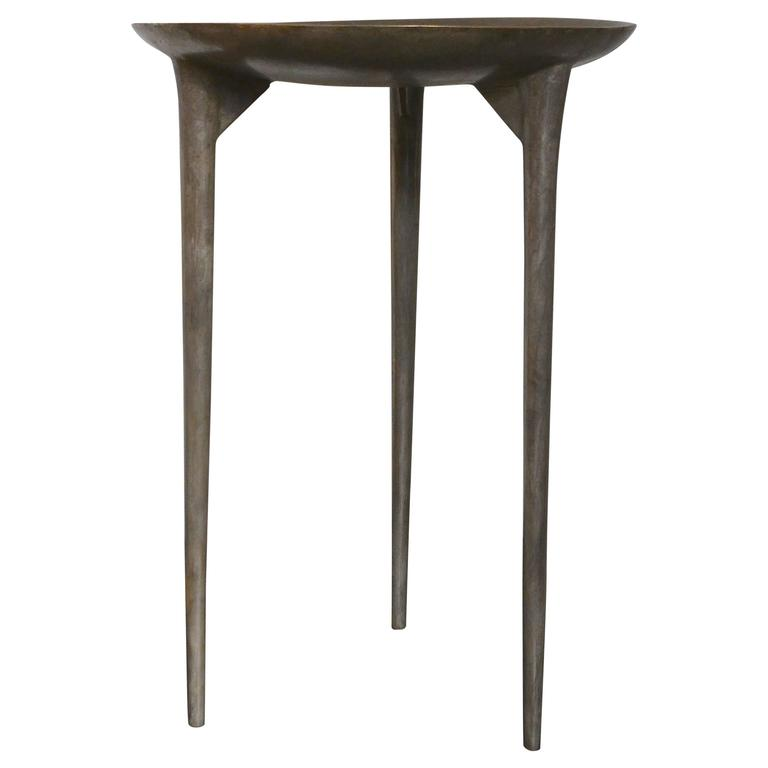 Rick Owens Table in Solid Bronze For Sale