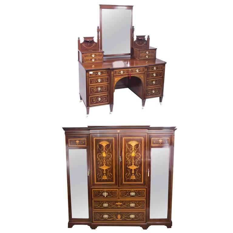 this antique victorian bedroom suite maple co circa 1880 is no