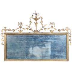English Hepplewhite Period Giltwood Overmantel Mirror, circa 1790