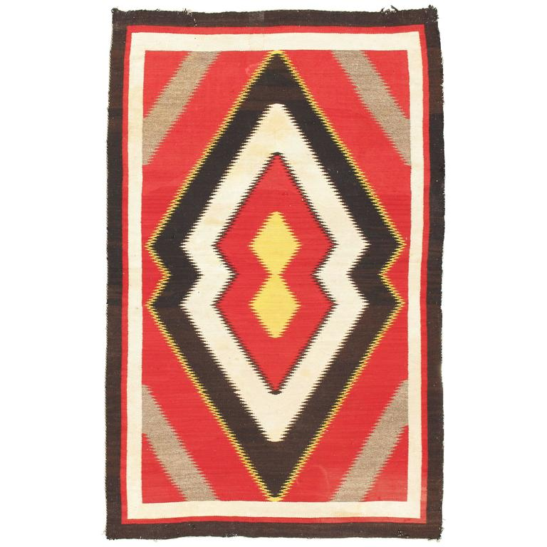 Early 20th Century Navajo Rug For Sale At 1stdibs