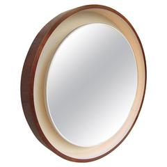 Rosewood and Lacquer with Light Mirror, Scandinavia, 1970