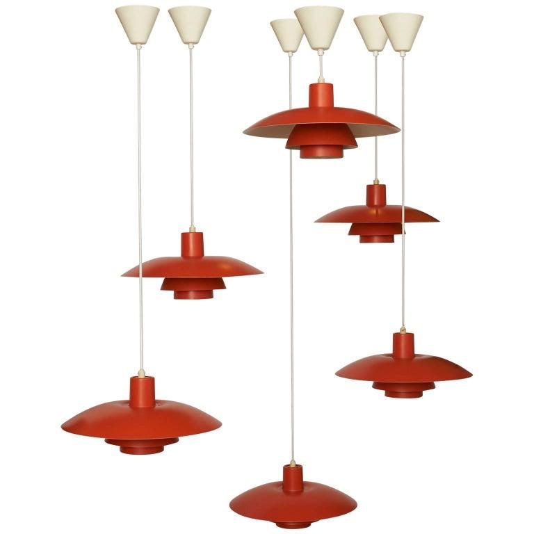 Orange Pendant Ph-4/3 by Poul Henningsen For Sale