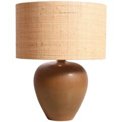 Ceramic Table Lamp by Gunnar Nylund