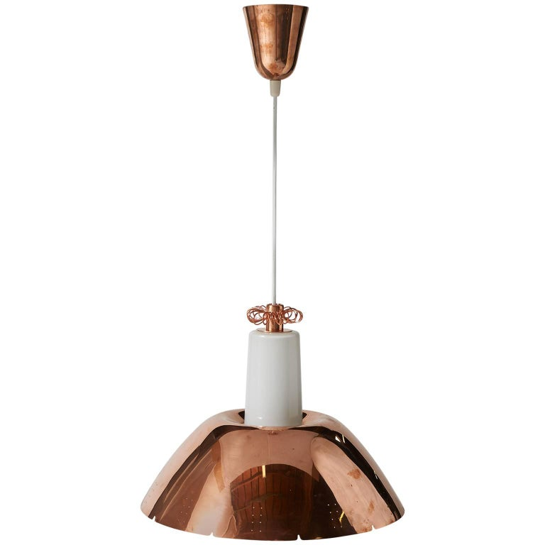 Copper Pendant by Paavo Tynell Model #K2-20 For Sale