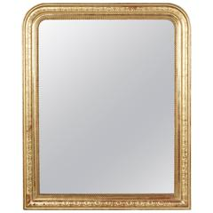 Large-Scale Giltwood Period Louis Philippe Mirror, France, circa 1830