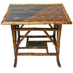 Fine 19th Century Rectangular English Bamboo Sofa Side Table