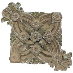 Antique Decorative Architectural Tin Ceiling Light Medallion