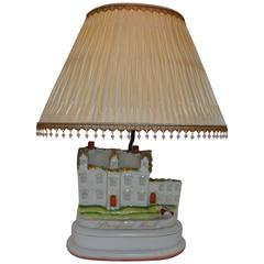 """Staffordshire """"Stanfield Hall"""" Lamp"""
