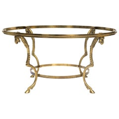 Brass Ram Head Coffee Table Base