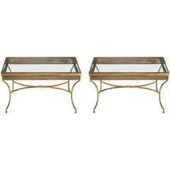 Pair of Brass French Display Tables