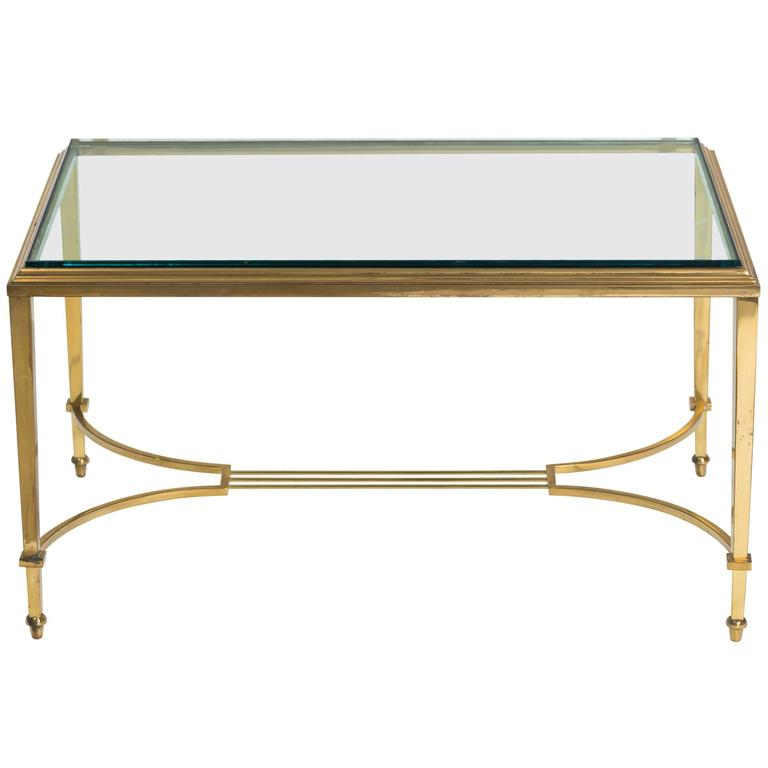 Brass and Glass Table Cocktail Table