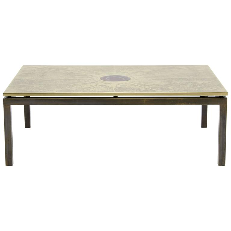 Coffee Table Etched Brass by ADS
