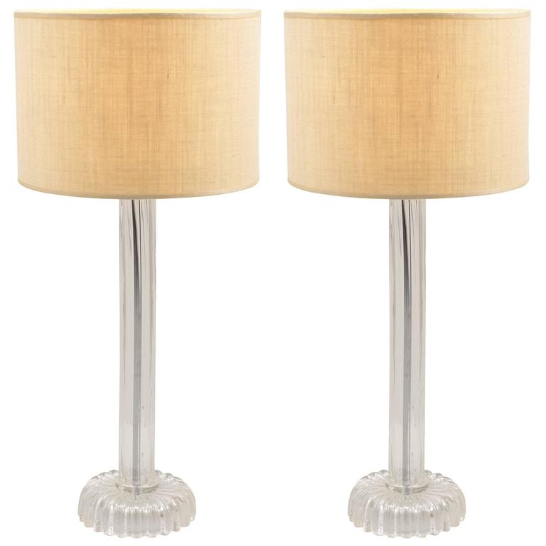 murano costolato ribbed blown glass table lamps for sale at 1. Black Bedroom Furniture Sets. Home Design Ideas