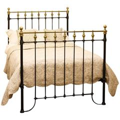 Double Brass and Iron Bed
