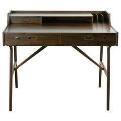 Scandinavian Modern Rosewood  Desk by Arne Wahl Iversen