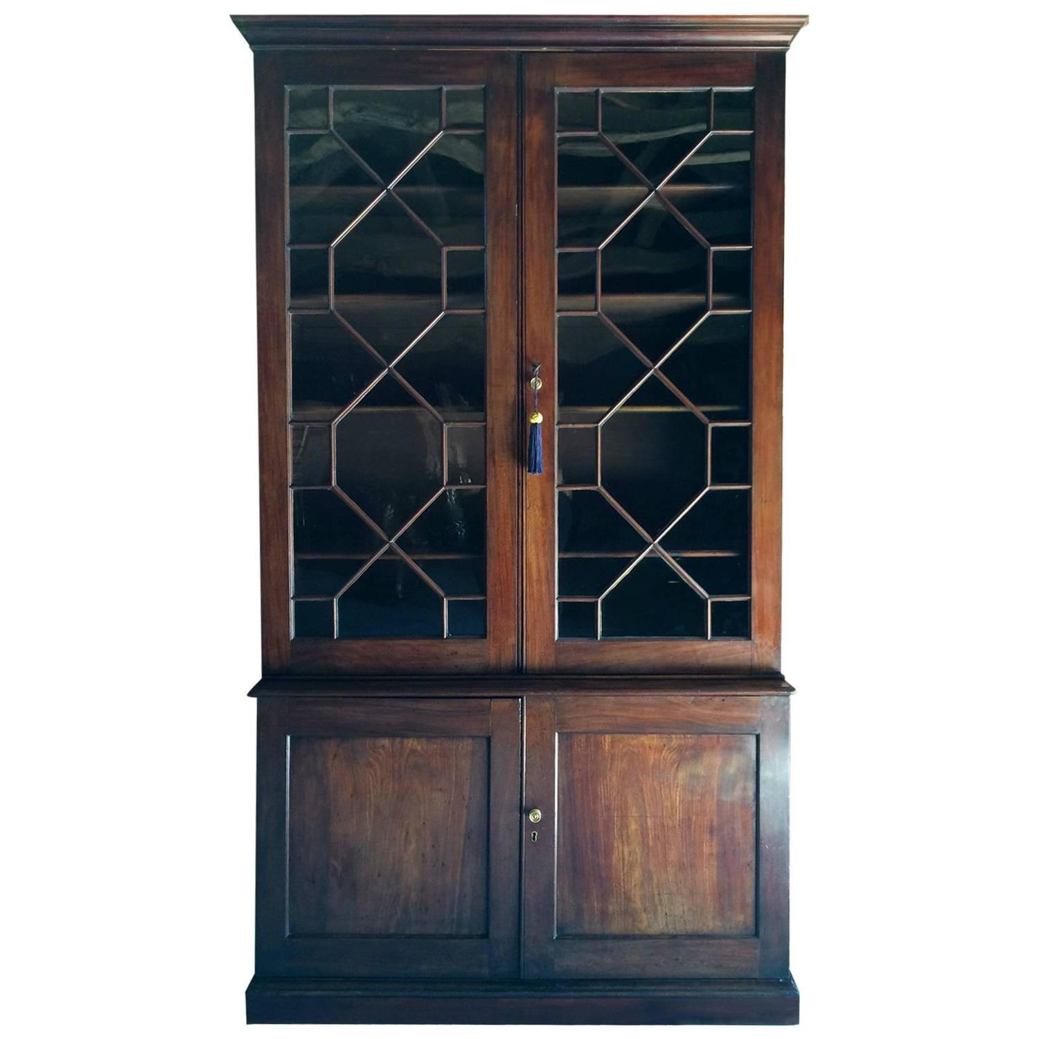 #8E593D Antique Bookcase Victorian Mahogany Display Cabinet Two  with 1500x1500 px of Recommended Mahogany Display Cabinets With Glass Doors 15001500 save image @ avoidforclosure.info
