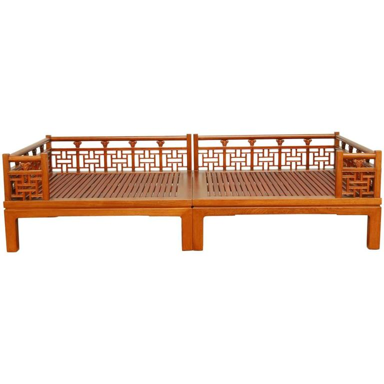 Chinese Carved Luohan Daybed At 1stdibs