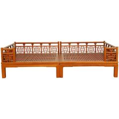 Chinese Carved Luohan Daybed