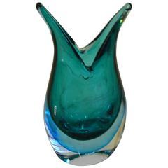 Maurizio Toso Borella, Murano Sommerso Free-Form Vase, 1980s