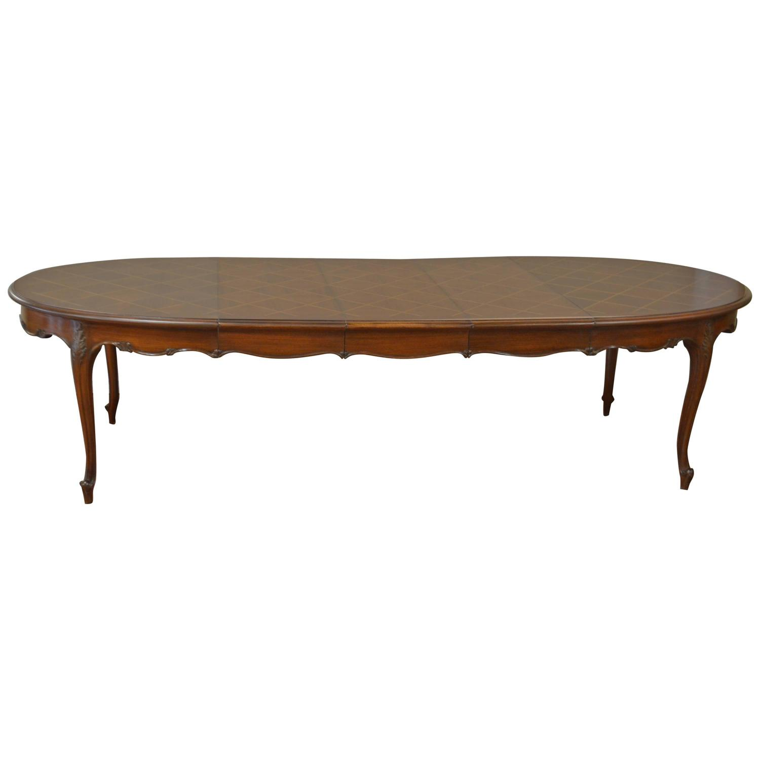 louis xv style walnut dining table at 1stdibs