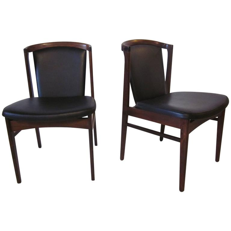 Eric Buck Danish Rosewood Chairs for Erik Christensen