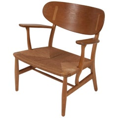 Hans Wegner Model CH22 Shell Back Paddle Armchair