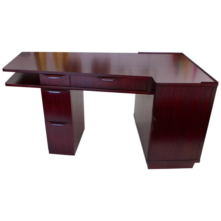 Edward Wormley for Dunbar Mahogany Trapezoidal Desk