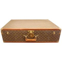 1970s Louis Vuitton Hard Suitcase with Square Handle