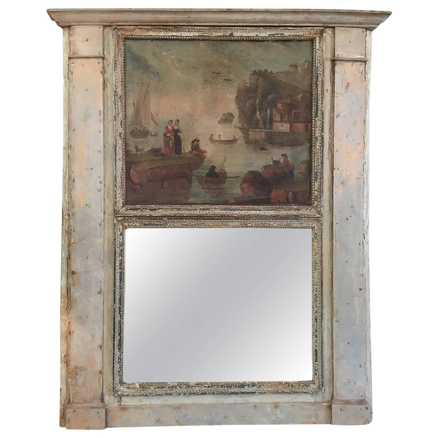 early 19th century trumeau mirror from france at 1stdibs. Black Bedroom Furniture Sets. Home Design Ideas