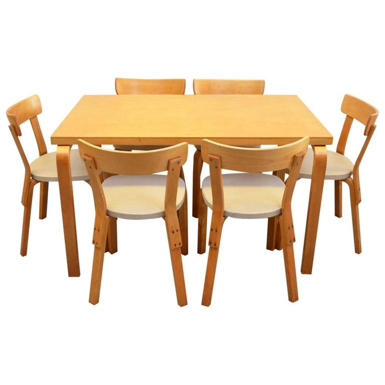 Dining Set by Alvar Aalto for Artek For Sale