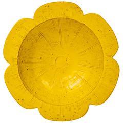 Raymor Italian Ceramic Pottery Flower Centerpiece Bowl