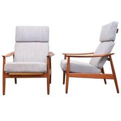 Scandinavian Modern Easy Chairs FD164 by Arne Vodder for France & Son, Denmark