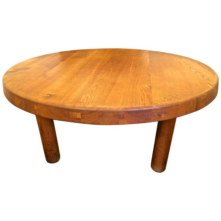 Charlotte Perriand Round Low Coffee Table At 1stdibs