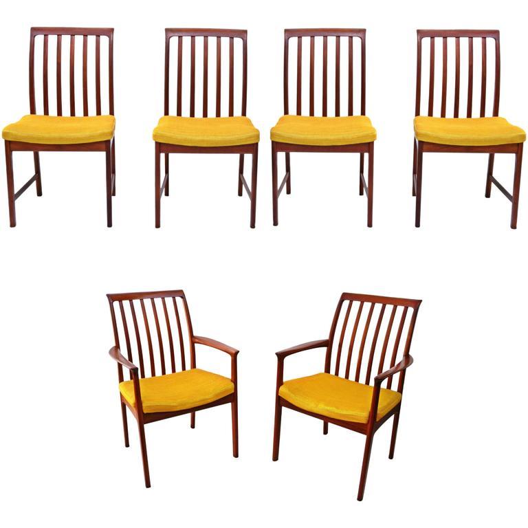 modern folke ohlsson dux teak dining room chairs for sale at 1stdibs