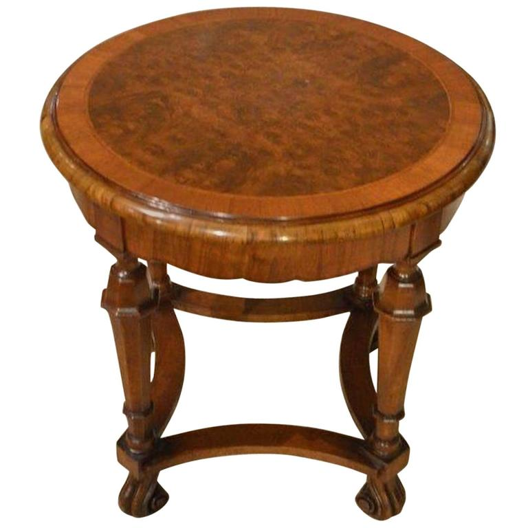Burr Walnut Edwardian Period Coffee Table By Waring Gillows For