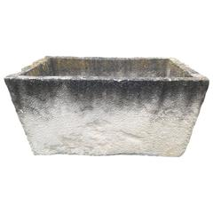 Huge French Carved Limestone Trough or Auge
