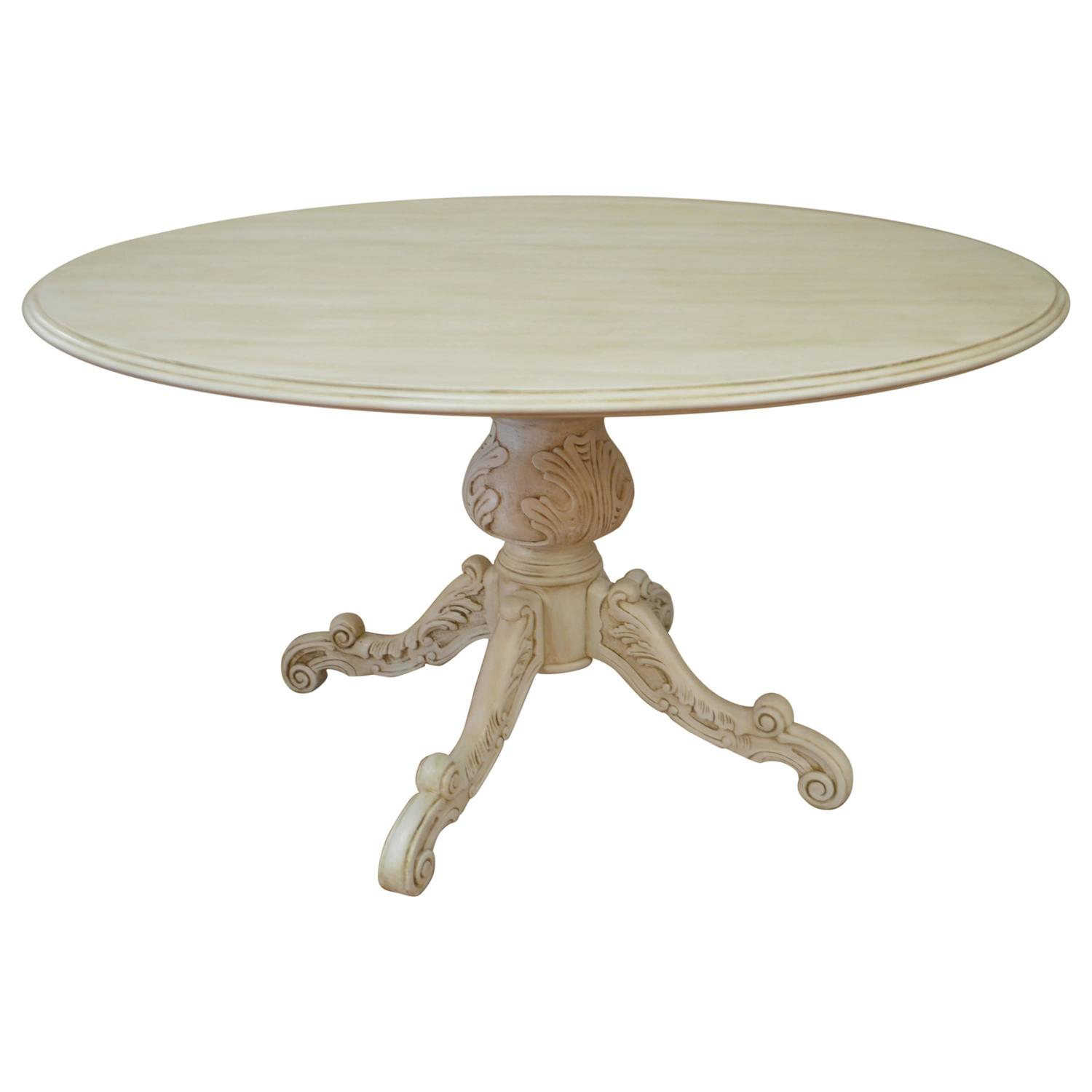 Round Pedestal Painted Dining Table At 1stdibs