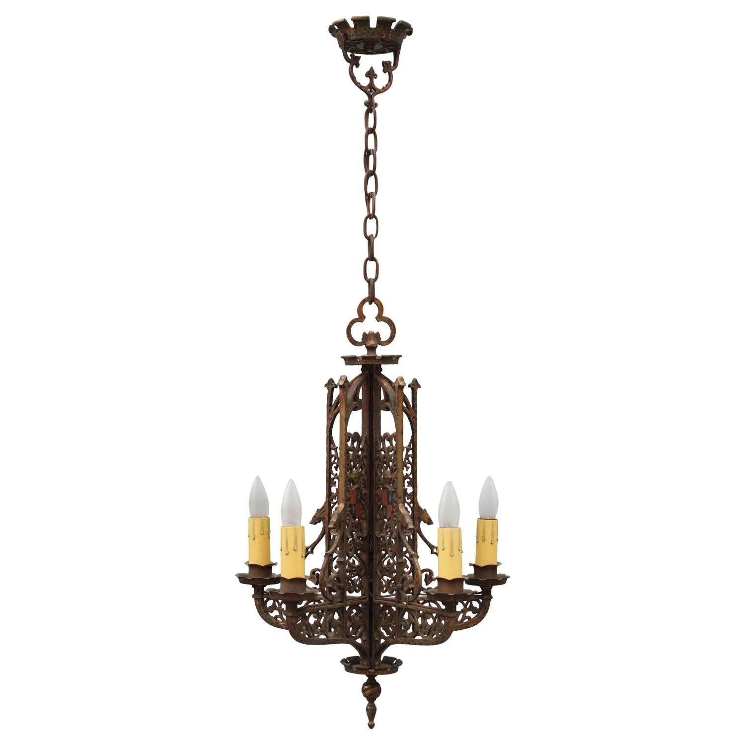 Beautiful Antique Tudor Style Chandelier For Sale At 1stdibs