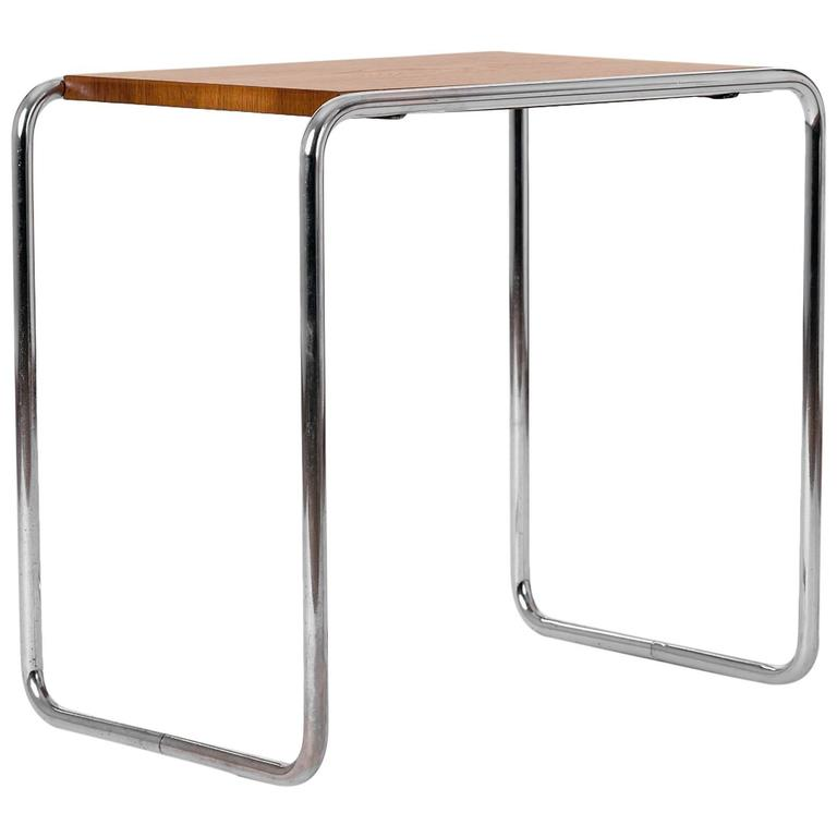 tubular steel table b9 by marcel breuer for thonet for sale at 1stdibs. Black Bedroom Furniture Sets. Home Design Ideas