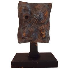 Midcentury Brutalist Bronze Sculpture