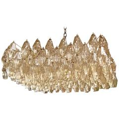 Italian Murano Square Chandelier by Tobia Scarpa for Venini