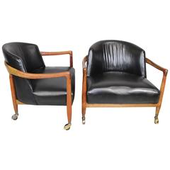 T.H. Robsjohn-Gibbings Club Chairs for Widdicomb