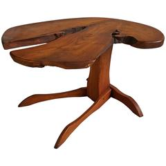 Orananic Crafts Bench Made Occasional Table, Manner of George Nakashima
