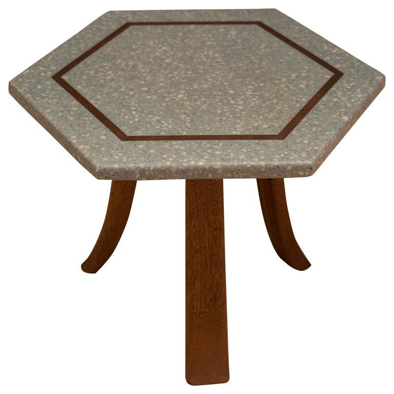 Vintage Harvey Probber Terrazzo Side Table