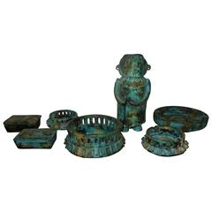 "Seven Peices Alvino Bagni for Raymor ""Sea Garden"" Italian Modern Pottery"