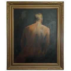 Important Mid-Century Original Painting of a Man by Hollywood Portrait Artist