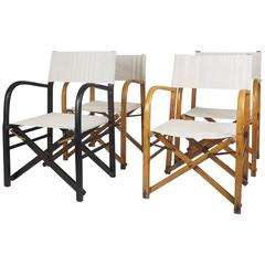 Italian Set of Early and Folding Director's Chairs, Milano, 1940s