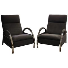 Matching Pair of George Mulhauser for DIA Model 5668-13, Reclining Lounge Chairs