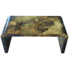 Karl Springer Tortoise Goatskin Coffee Table, 1973
